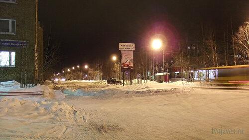 Фотография Инты №2550  Улица Куратова в западном направлении, вид от северо-западного угла Куратова 1