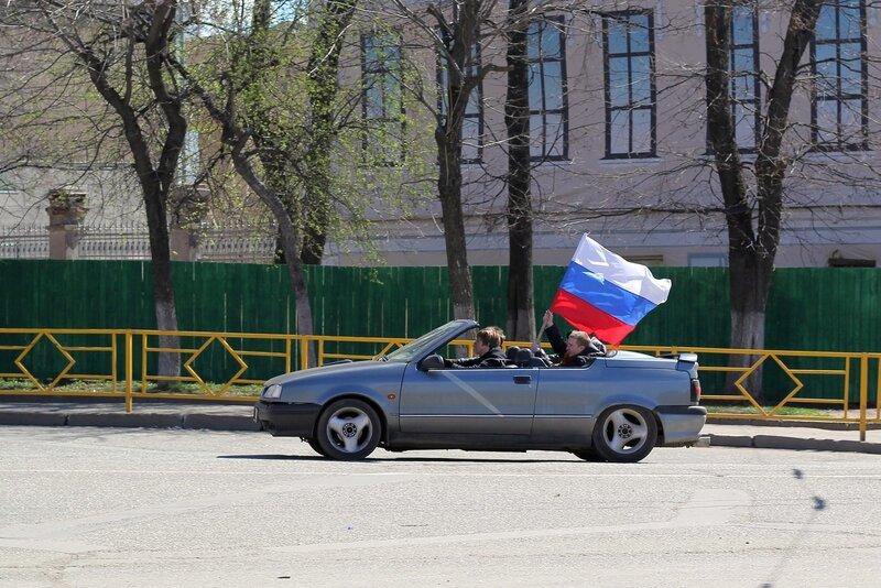 Автопробег ретро (и не только) автомобилей на День Победы