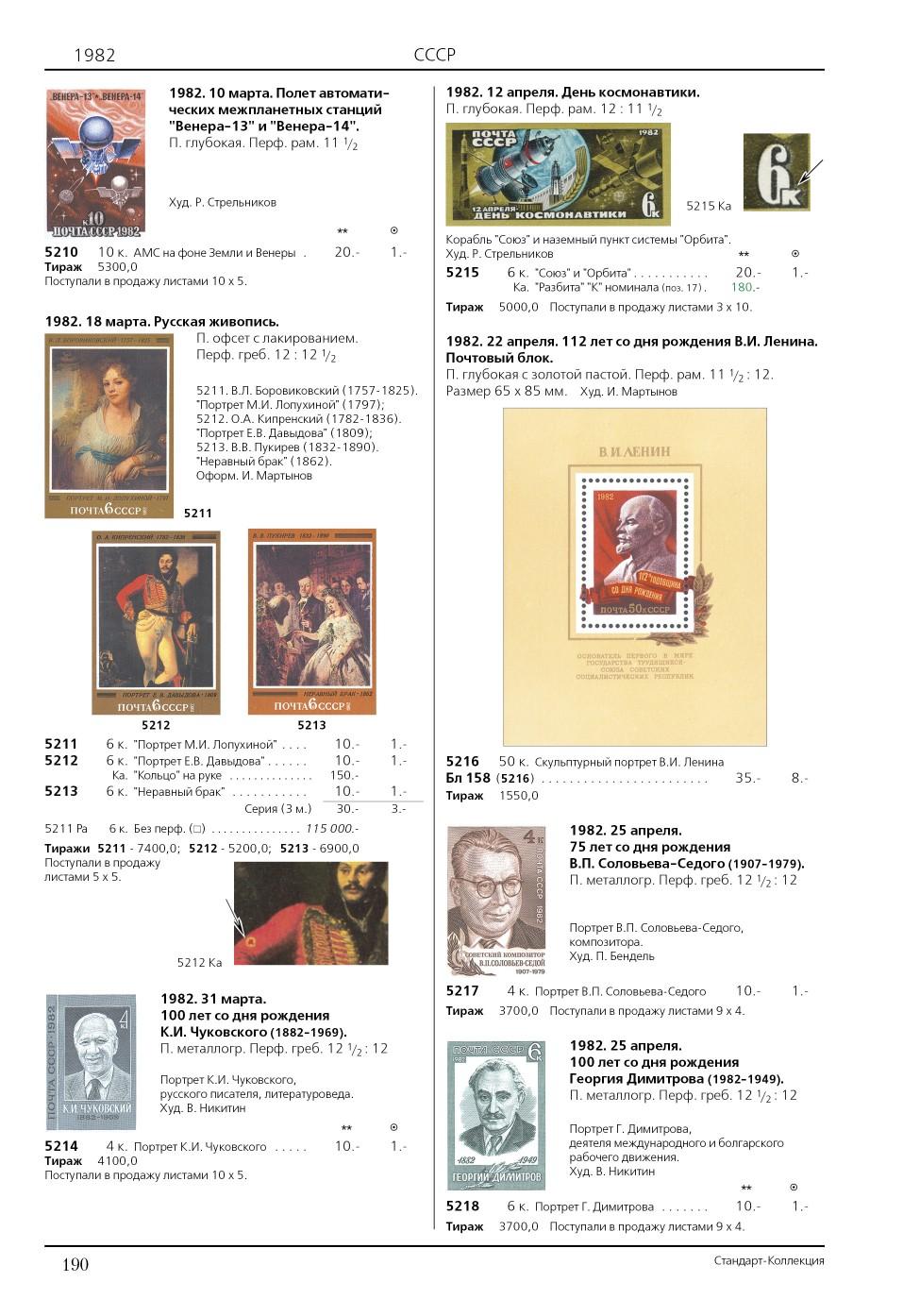 Каталог марок СССР Стандарт-Коллекция Загорский