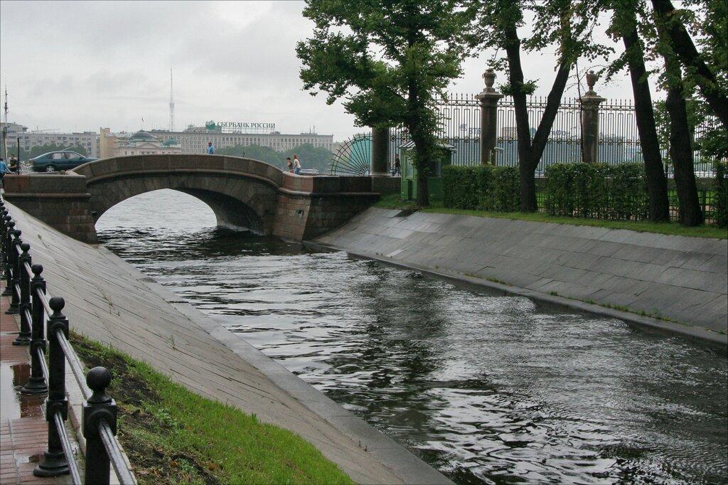 Летний сад, Лебяжья канавка и Верхний Лебяжий мост