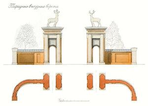 Усадебный дом в Степановском-Павлищеве. Парадные въездные ворота