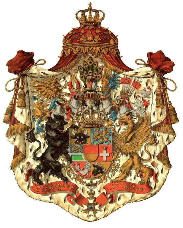 Большой герб Великого Герцогства Мекленбург-Шверин