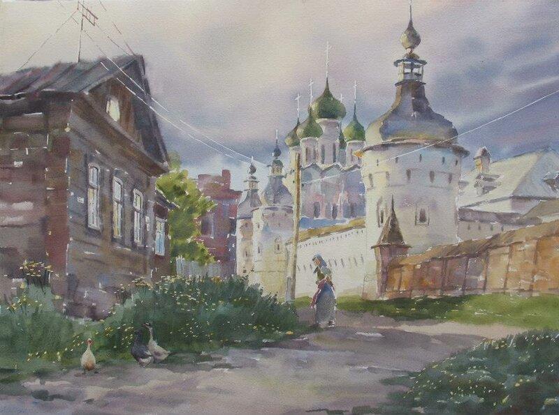 Двор, мой старый добрый двор. Художник Игорь Манухов