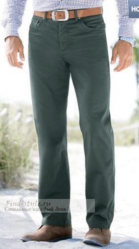 Бирюзово-зеленые мужские брюки