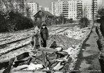Солнцево, октябрь 1976г. В переулке между 1-ой Полевой и Верхней улицами. Девятиэтажки левее- Куйбышева,4 (Солнцевский пр-т, 32), правее- Куйбышева,8 (Cолнцевский пр-т, 34).