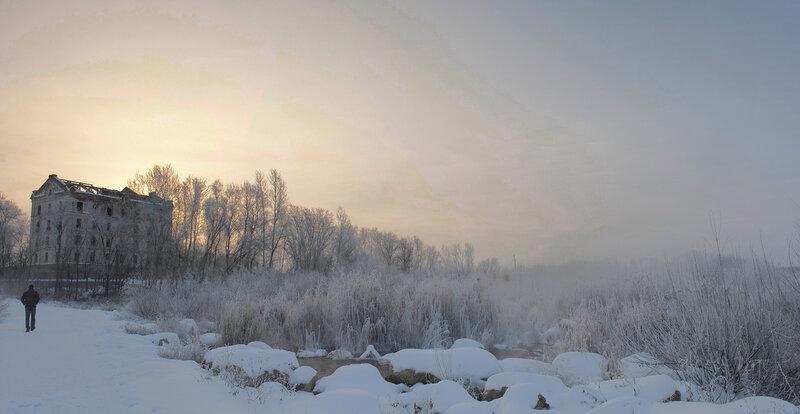 Утро на плотине