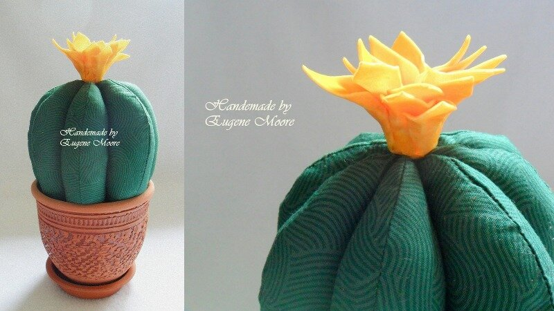 кактус из ткани