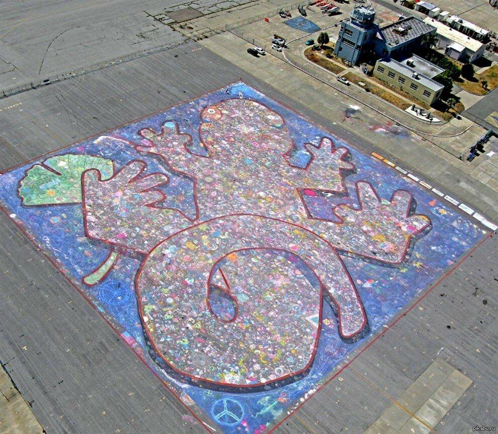 Крупнейший рисунок мелом - 361,31 метров
