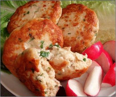 Картофельно-куринные котлеты