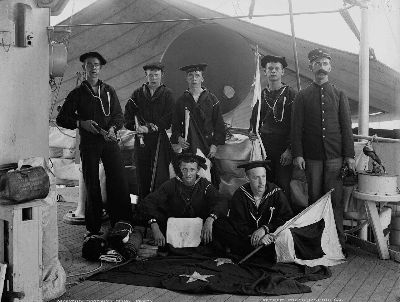 USS New York, сигнальщики, ca.1896-99 гг.