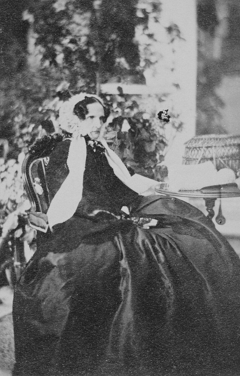 Фредерика Шарлотта Вильгельмина, вдовствующая императрица. 1860 г.
