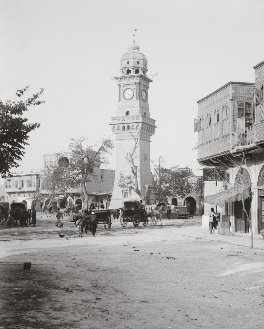 Площадь в Алеппо, Сирия. 1900-1920 гг.