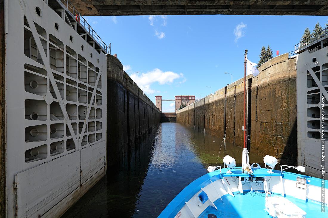 Камера шлюза Рыбинского гидроузла