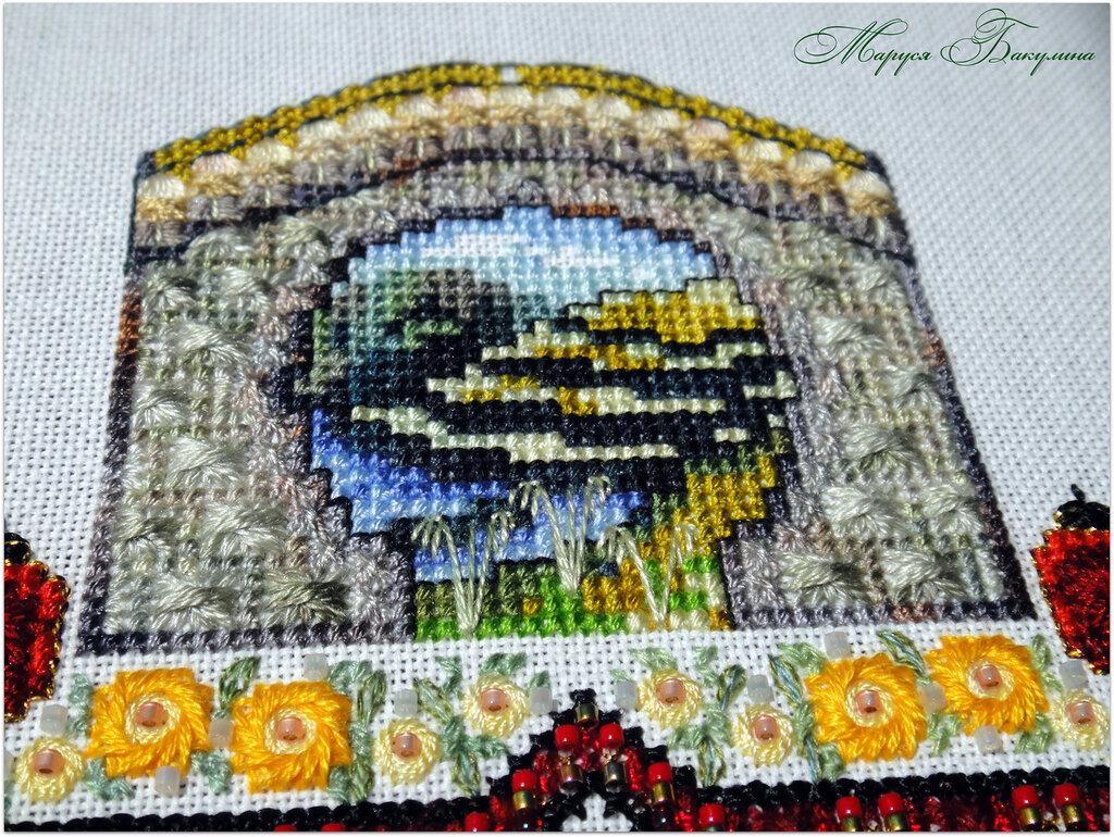 chatelaine, вышивка крестом, вышивка, swarovski, рукоделие, рисовые терассы