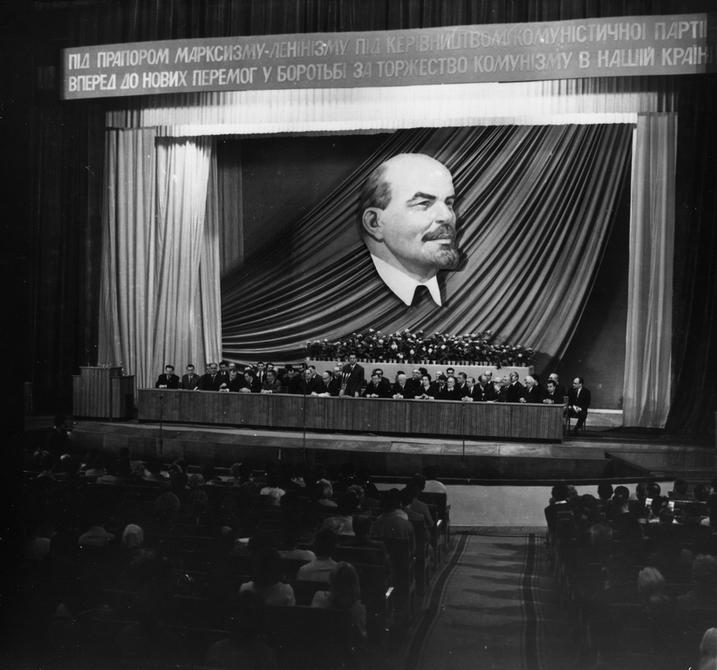 1969.05.10. Президиум и зал во время торжественного открытия Декады грузинской литературы в Украине