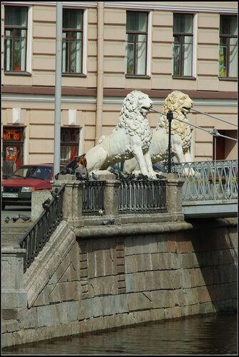 Львиный мост. Санкт-Петербург. Май 2013.