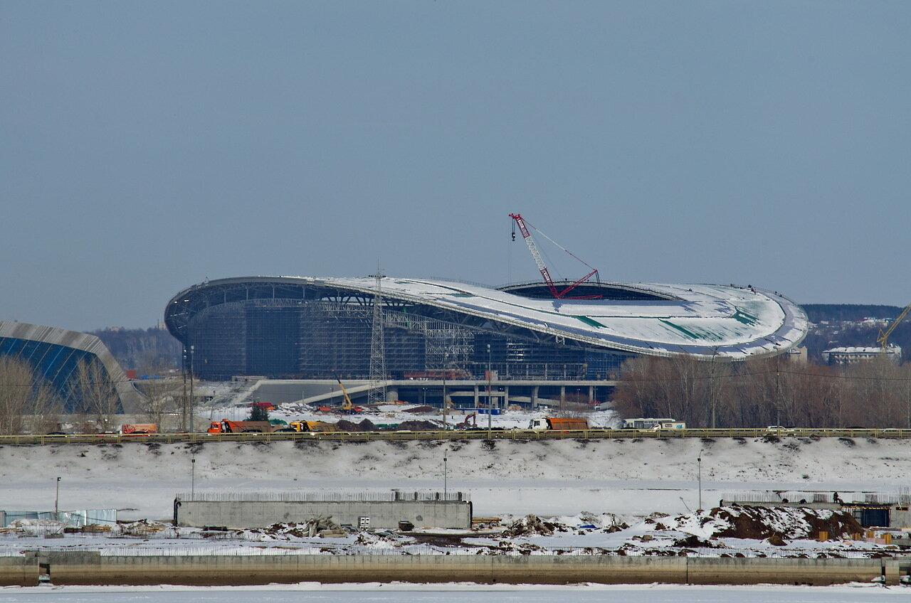 Панорамные виды достраивающейся «Казань Арены» + фото изнутри