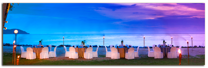 Малайзия. Лангкави. Sheraton Langkawi Beach Resort. Theme Dinner at Beach Front