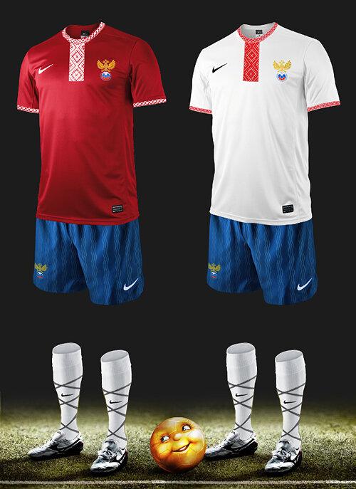 Новая экипировка сборной России по футболу