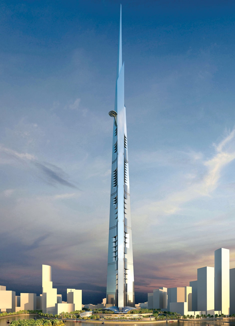 "Artist impression of the Kingdom Tower in Jeddah, which aims to be the world""s tallest building"