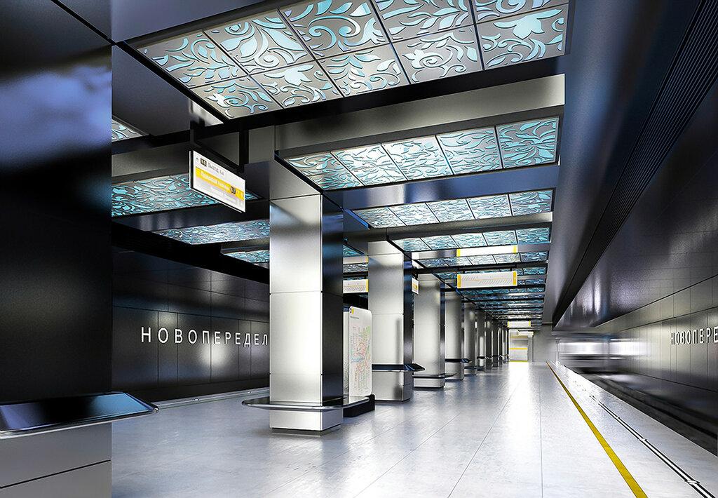 Визуализация станции Новопеределкино, United Riga Architects