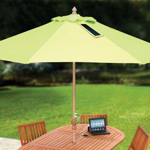 Зонт от солнца с солнечными панелями