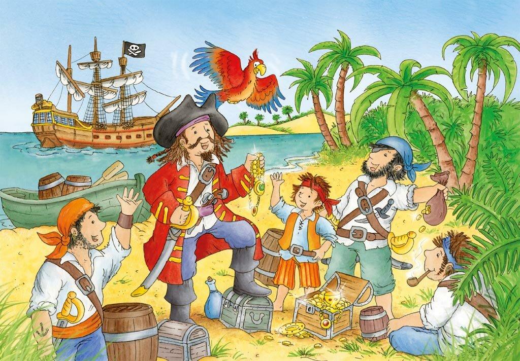 Днем, картинки пираты детские