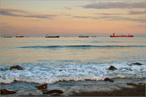 Закат на бухте Патрокл