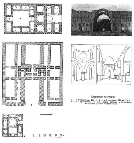 Дворцовые постройки Сасанидского Ирана, планы