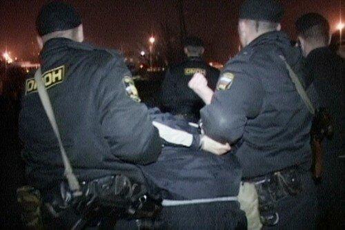 Репортаж о задержании