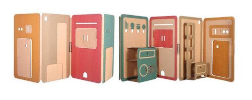 Складной картоновый дом для игр