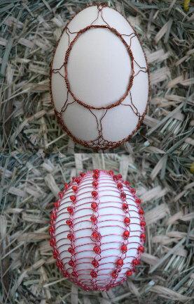 Декор яиц проволокой