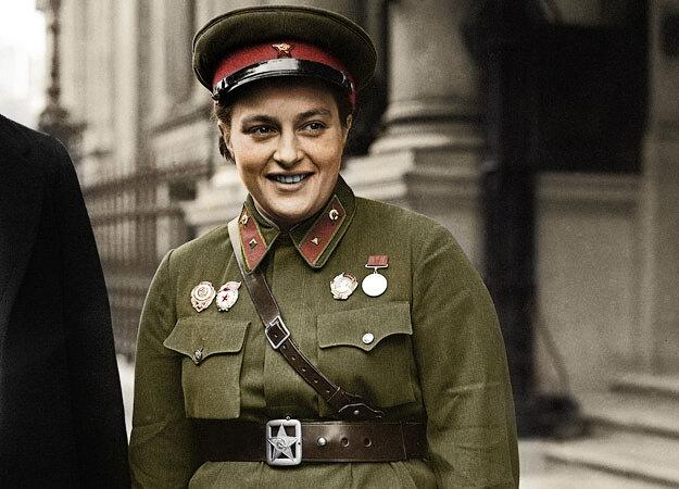 WWII London Russian Sniper Lyudmila Pavlichenko