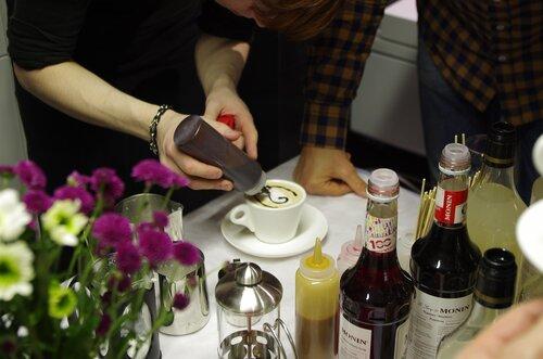 кофе арт мастер класс