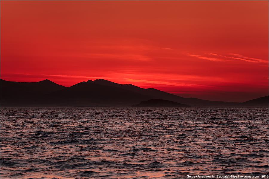 Ядерный закат над островом Андипарос