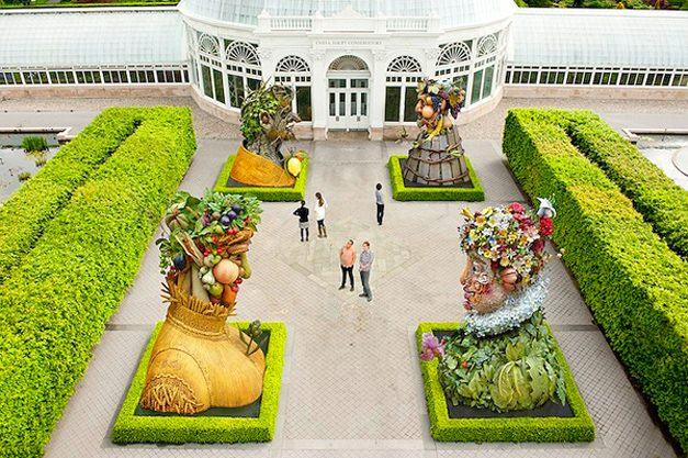 The Four Seasons by Philip Haas / Времена года художника и скульптора Филипа Хааса