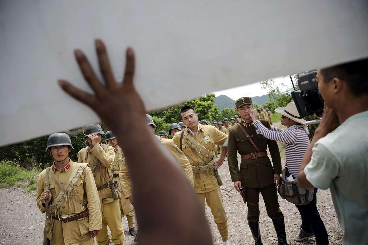 Война и немцы: На съемках китайского телесериала о 2-й мировой войне (16)