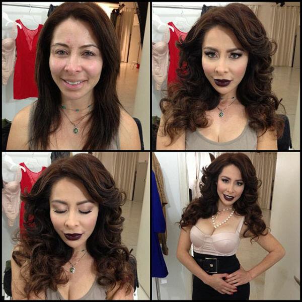 Порноактрисы до и после макияжа