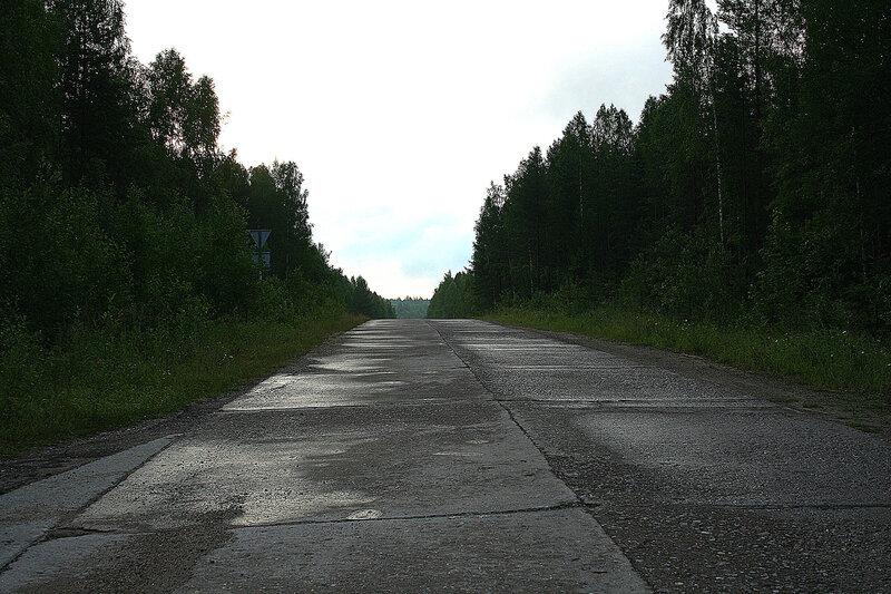 бетонка к бывшему ядерному арсеналу Каргополь-2 в Няндоме
