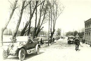 1914 год - немцы на главной улице Лодзи, Петрковской.