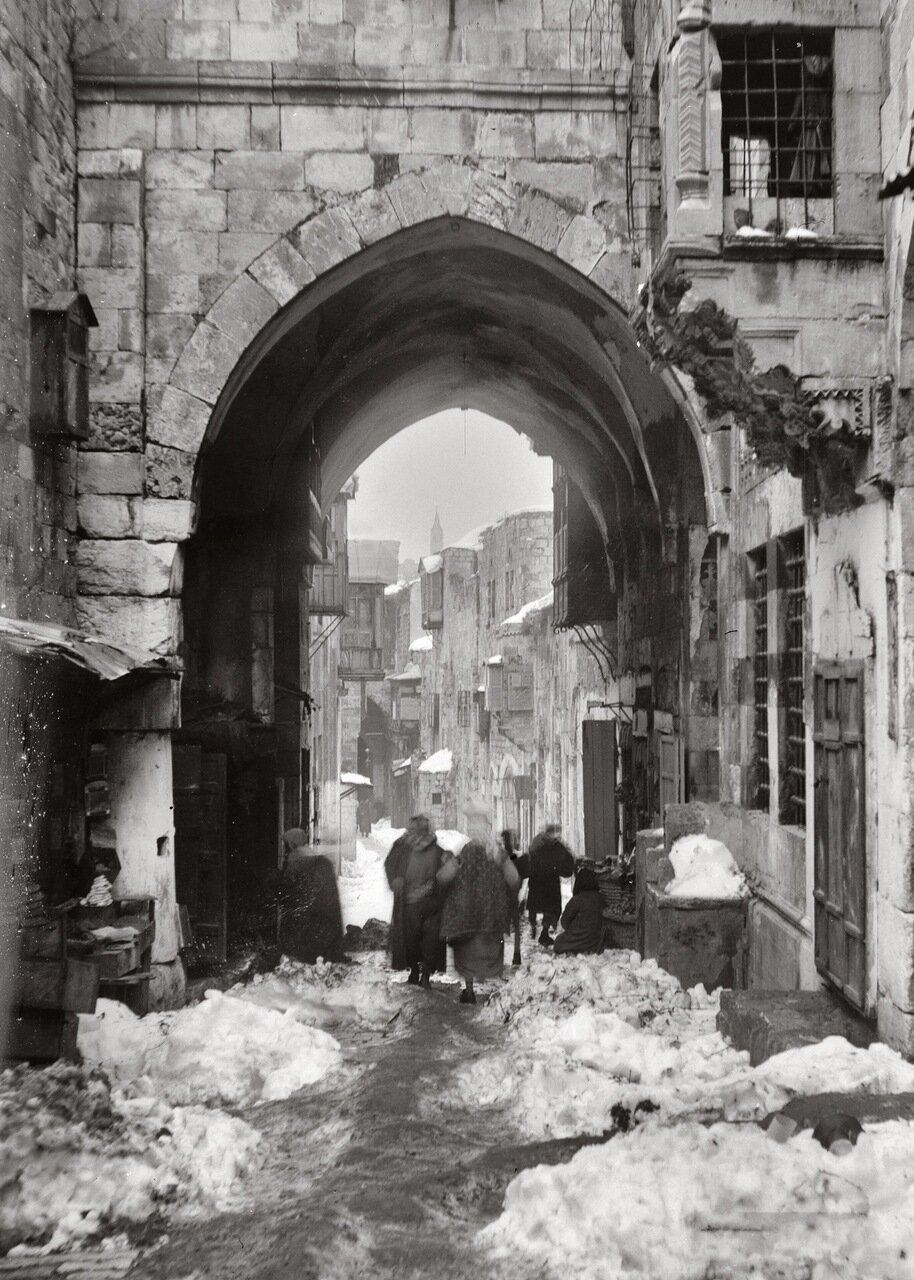 Снег в Иерусалиме. Виа Долороса. 1921