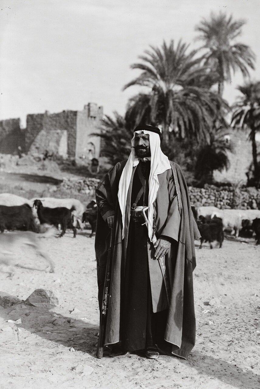 Друзский вождь. Азрак, Иордания. 1926 г.