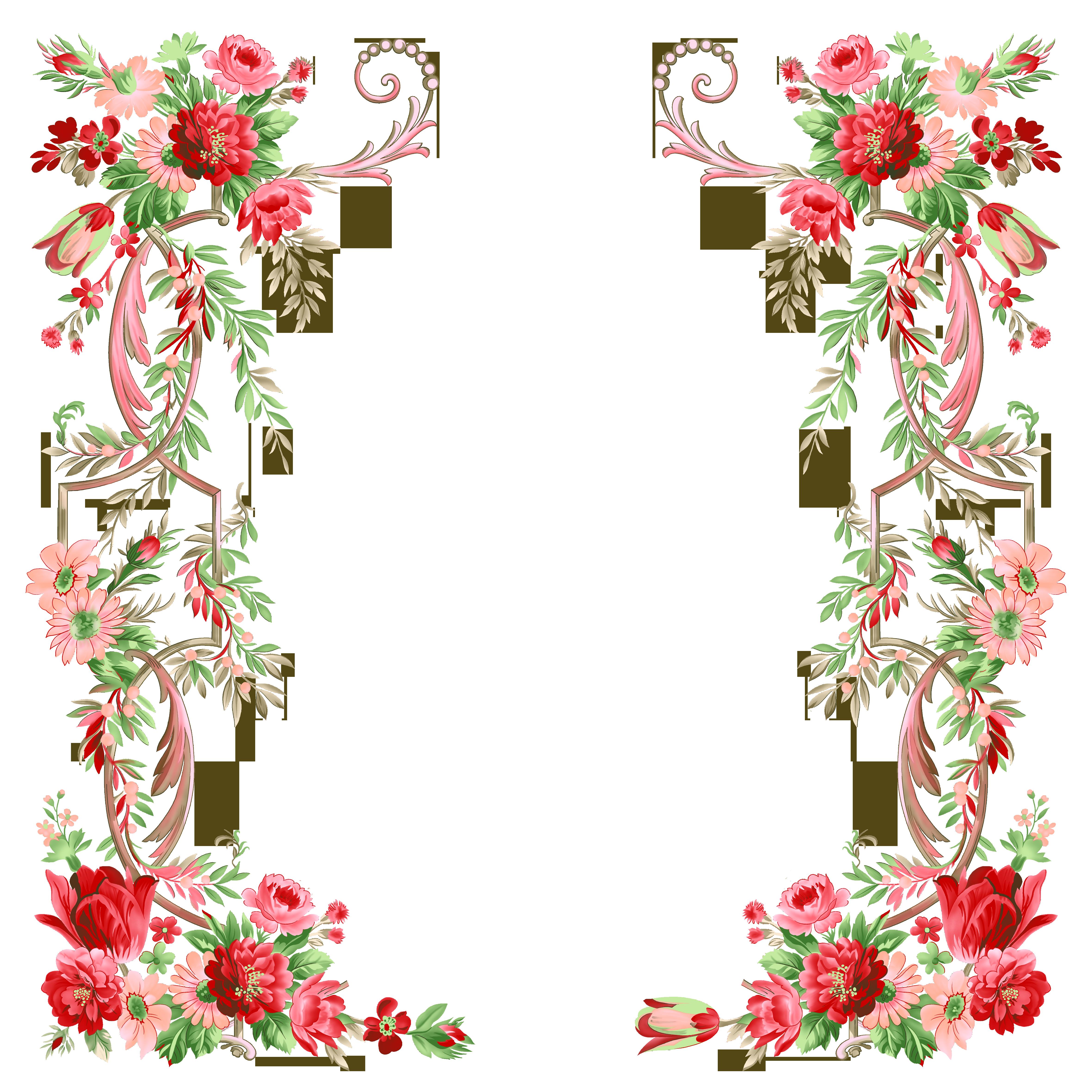 рамки для фото цветы: