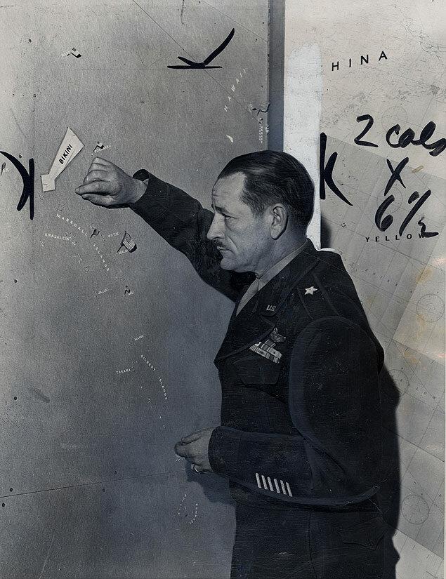 The Bikini A-bomb test was called  a very vital success by Brigadier General Roger Ramey.jpg