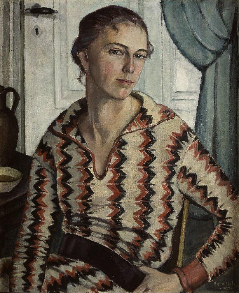 Агда Хольст (1886-1976) , автопортрет 1925.
