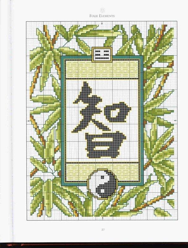 Варианты вышивки Японских