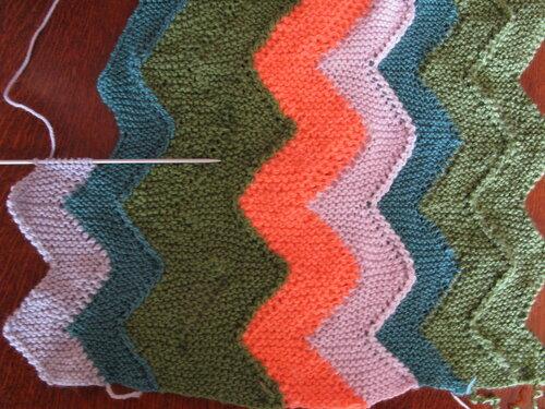 Вязание плед на 10 петлях 4