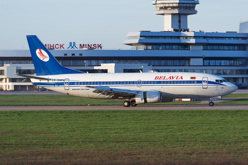 Boeing 737-3K2 (EW-308PA) Белавиа D800407