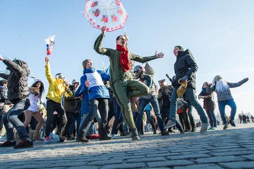 Флешмоб на Красной площади — «Harlem Shake»
