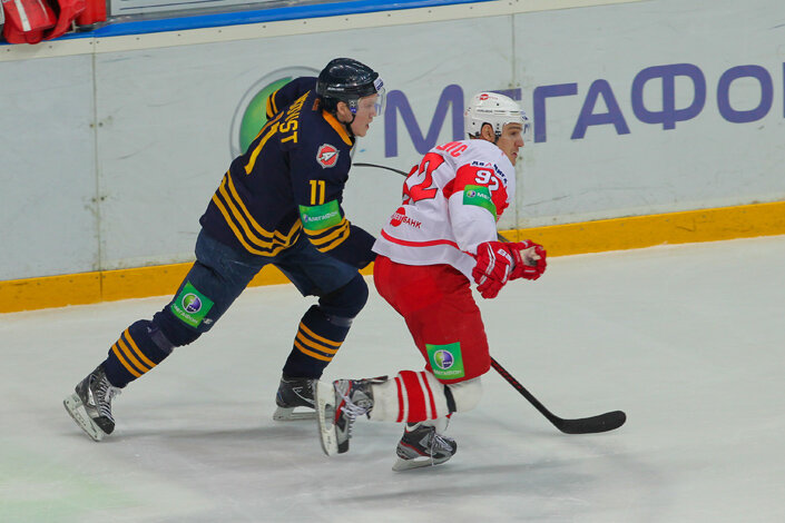 «Атлант» vs «Спартак» 5:2 чемпионат КХЛ 2012-2013 (Фото)